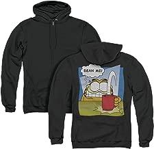Garfield Bean Me Unisex Adult Zipper Hoodie, Back Print