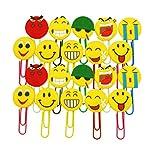 JZK 20 x Emoji Lesezeichen Kinder Lesezeichen Party Favors Mitgebsel Gastgeschenk Geschenk für Kinder Party Geburtstag