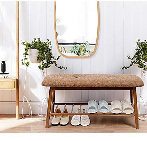 JKCKHA Zapatero Simple de Madera de bambú, Zapatos de Estar Asamblea Sala del gabinete, Portal Europeo de Estilo Banco Zapato Adecuado para Corredores, Salas de Estar, dormitor