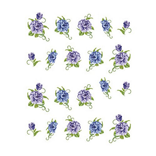 5Pcs Belle Motif Fleurs Nail Art Tips Sticker Décoration, BLE1722