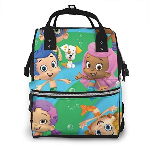 Bub-ble Gup-pies - Mochila de pañales de gran capacidad, bolsa de bebé, multifuncional, con cremallera, mochila de viaje informal para mamá y papá, unisex