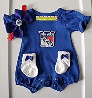 NY Rangers baby girl outfit/NY Rangers baby clothes girl/NY Rangers newborn girl/NY Rangers baby gift girl/Rangers hockey baby girl/Rangers baby clothes girl