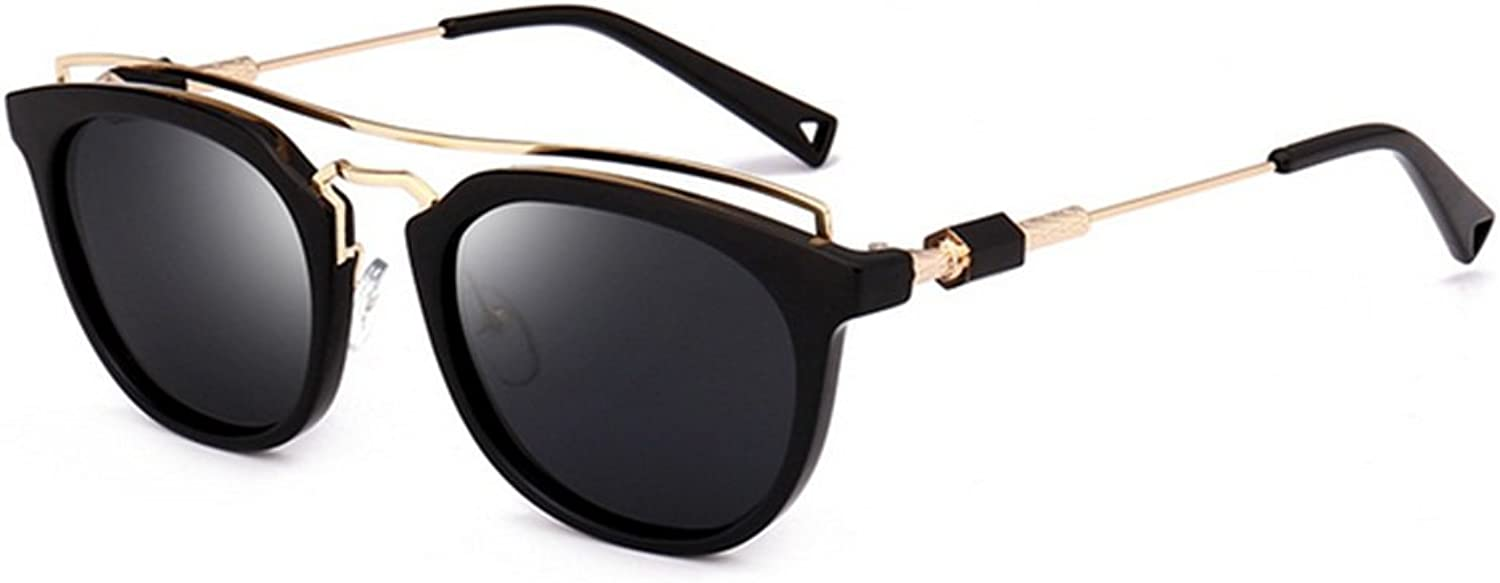 Cat Eyes Style Full Frame Personality Sunglasses for Women Men UV Predection for Driving Vacation Summer Beach (color   C1)