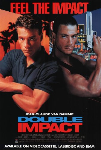 Double Impact Movie Poster (27 x 40 Inches - 69cm x 102cm) (1991) Style B -(Jean-Claude Van Damme)(Cory Everson)(Geoffrey Lewis)