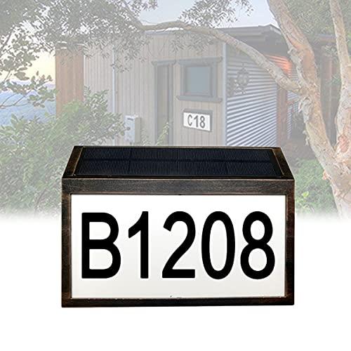 YCRD Número Casa Puerta Luz con Energía Solar, Número Casa con Luz Led, Luces Led Solares a Prueba Agua, Adecuadas para Luces Placa, Vallas, Patios, Calles, Parques