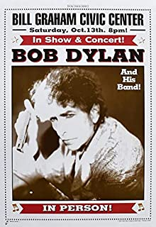 Bob Dylan Concert Poster & Ticket Lot SF 2001