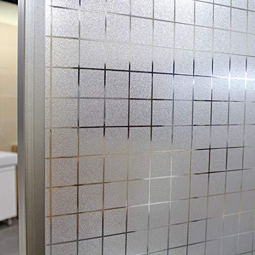 SNNH verduisteringsfolie, zonder lijm, statische glassticker, bescherming tegen inkijk, voor kantoor, badkamer, mat, zelfklevende folie, decoratiefolie
