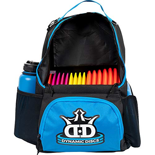 Dynamic Discs Cadet Disc Golf Backpack | Blue/Black | Frisbee Disc Golf Bag with 17+ Disc Capacity | Introductory Disc Golf Backpack | Lightweight and Durable | Discs NOT Included