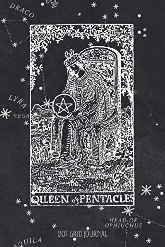[画像:Dot Grid Journal: Queen of Pentacles Tarot card notebook - 6 x 9 inch size (eu A5 approx) - 110 pages - blank dotted paper - Great for taking notes, journaling, drawing, use it as bullet planner or composition notebook - Astronomy map cover]
