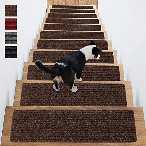 Stair Treads Non-Slip Carpet Indoor Set of 14...