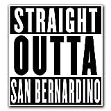 CUSTOMI SAN BERNARDINO Straight Outta Series Custom Decal Sticker for Car Truck Macbook Laptop Air Pro Vinyl