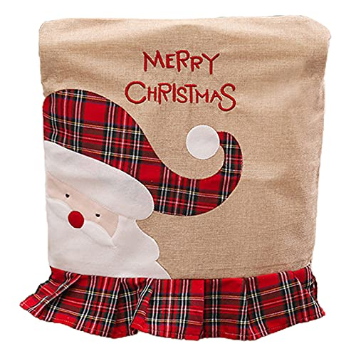 Youjin Decoración de Navidad, bolsa de regalo para sillas, fundas para botellas de vino, decoración para casa, restaurante, festival, fiesta