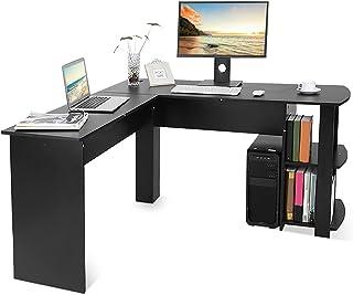 Ejoyous L-vorm hoekbureau, groot computertafel, schrijftafel, hoekbureau B¨¹rotisch met plank GD, eenvoudige montage voor ...