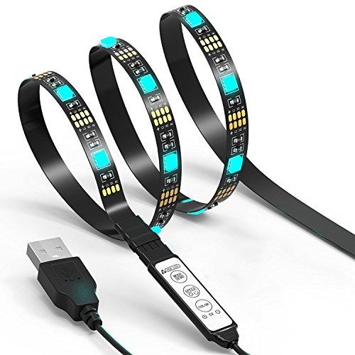 Luz de fondo LED TV Luces de tira JACKYLED 2M 5V Luces traseras de TV LED Multicolor RGB 5050 Bias Lighting Para televisión HDTV PC Juego de azar Pantalla Escritorio Decoración hogareña