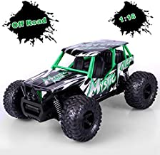 STOTOY RC Truck Remote Car,High Speed Off Road Monster Truck-1/16 Scale 2WD 2.4Ghz Radio Controlled Electric Truggy-Best Gift for Kids, Green