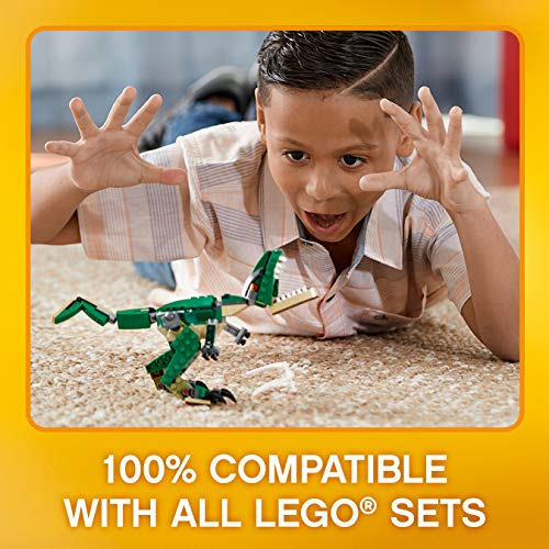 LEGO31058CreatorMightyDinosaursToy,3in1Model,TriceratopsandPterodactylDinosaurFigures,ModularBuildingSystem