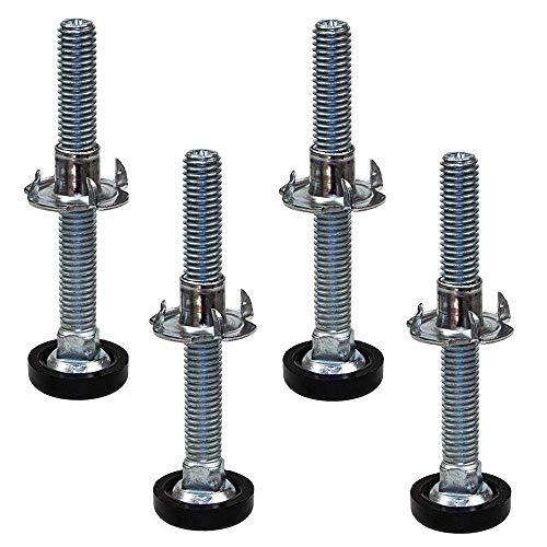 SECOTEC H/öhenverstellschrauben mit Einschlagmuttern; Regulierschrauben M8 x 30 mm; Inhalt 10 St/ück