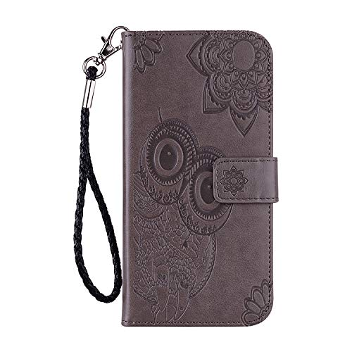 Leather Wallet Case for iPhone 11 Pro (5.8') PU Leather Magnetic Flip Cover with Card Slots Holders Bookstyle Wallet Case for Apple iPhone 11 Pro 2019 - JEYK010049 Gray
