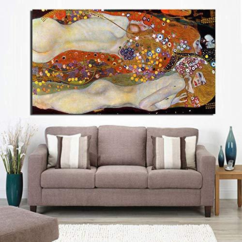 Nordic Poster Gustav Klimt canvas schilderij afdrukken Home Decoration moderne woonkamer muurkunst schilderij poster modulaire afbeeldingen 70x140cm