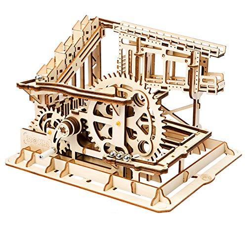 ROKR hölzerne mechanische 3D Puzzle mechanische Modell mit Balls Brainteaser für Kinder, Jugendliche und Erwachsene (COG Coaster)