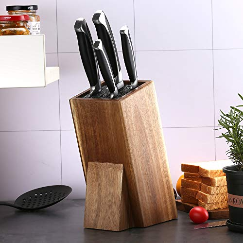 Universal Acacia Wood Knife Holder,Knife Holder, Large Capacity, Kitchen Household Multifunctional Knife Storage and Placement Rack
