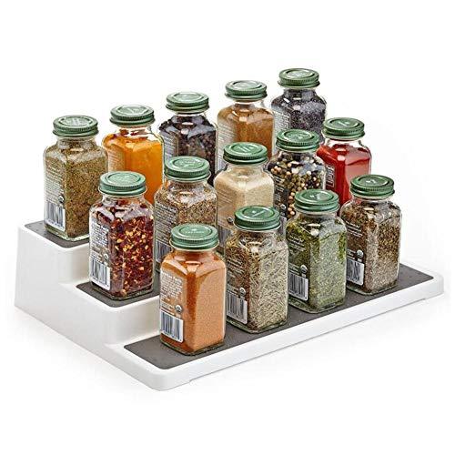 Rek Organizer met 3 niveaus & kruidenrek, kruidenrek, opslag voor de keuken, voor specerijen en kruiden, planten, decoratie