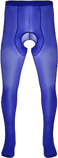 dPois Mens Soft Ice Silk Closed Toe Pantyhose Stretchy Slim Tights Hosiery Stockings Legging Pants Underwear
