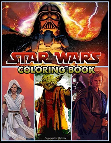 Star Wars Coloring Book: 50 Beautiful Illustrations Of All Star Wars Characters To Inspire Creativity And Relaxation For Adults And Kids