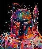 Pintura digital DIY Star Wars DIY Lienzo preimpreso Pintura al óleo...