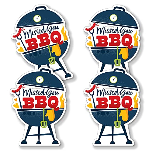 Big Dot of Happiness Missed You BBQ - Grill Decorations DIY Backyard Summer Picnic Party Essentials - Set of 20