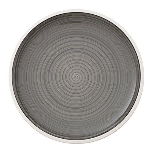 Villeroy & Boch Manufacture Grau Speiseteller, 27 cm, Premium Porzellan, Grau