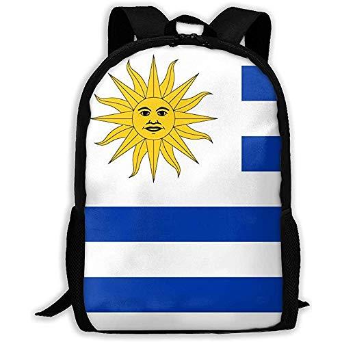 Mochila Escolar De Moda,Bolsos De Hombro Ajustables,Mochila Multifuncional,Bolsa para Portátil,Mochilas Escolares Unisex De La Bandera De Uruguay, Bolsos De Hombro Casuales
