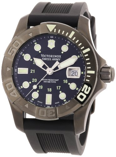 95711bd233ee Victorinox Swiss Army Men s 241426 Dive Master 500 Black Ice Black Dial  Watch