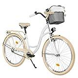 Milord. 28 3 Velocidad, Bici de Paseo, Urbana Cómoda Bicicleta de Ciudad con una Canasta