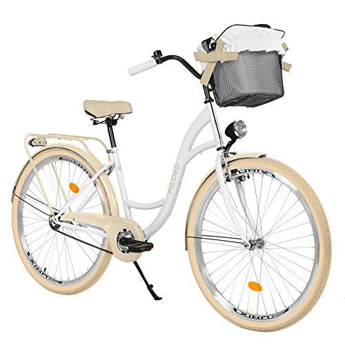 Milord. 28' 1 Velocidad, Bici de Paseo, Urbana Cómoda Bicicleta de Ciudad con una Canasta