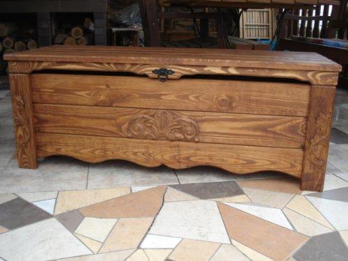 Decocraft BT1 Table basse/malle/coffre/coffre à jouets en bois Effet vintage ottoman