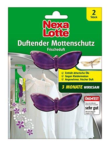 Nexa Lotte Duftender Mottenschutz, bekämpfend und abwehrend, 3 Monate Langzeitwirkung, 2 Hänger
