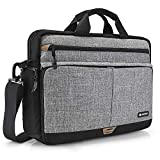 tomtoc 15.6 Inch Laptop Shoulder Bag for 16-inch New MacBook Pro A2141, Anti-Shock Laptop Messenger Bag Briefcase Fits 13 14 15 15.6 Inch HP Dell Acer Lenovo Asus Samsung Notebook Tablet