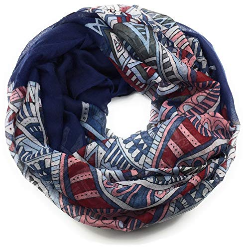 Feelinko mandala-patroon sjaal loop halsdoek slangsjaal ronde sjaal doek dames dames dames