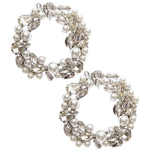 LOVE SHOES - 2 clips para zapatos con hebilla, plateados, brillantes, cristales, joyas, accesorios, zapatos de novia, zapatos de noche