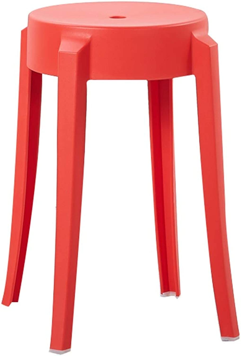 AGL-Bathroom Stools 2-Piece Set Stool Bathroom Multipurpose Plastic High Waterproof Strong Bearing Capacity Anti-Slip Portable Fashion Living Room Change shoes Bench (color   Red, Size   26X45CM)