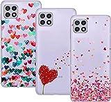 Young & Ming Compatible con Funda Samsung Galaxy A22 5G, (3 Pack) Transparente TPU Carcasa Delgado...