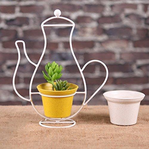Pot de fleur de sable de fer Pot de fleur Ornements blancs de paniers de style nordique (Size : 28*33cm)