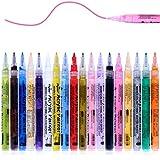 Wrei Pennarelli a Vernice Acrilica,18 Colori Premio Impermeabile Pittura Arte Pennarello Set per Pittura Rupestre, Ceramica, Vetro, Metallo, Legno, Tela, Carta, Tessuto, Plastica & DIY,0.7mm