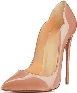 Soireelady - Scarpe da Donna - Classico Ritaglio High Heels - Chiuse Davanti - 12CM Scarpe col Tacco
