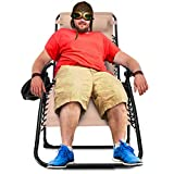 Zero Gravity Chair Oversized,420 lbs Weight Capacity Patio Lounge Chair, Folding Beach Chair Recliner 31.5 inch Extra Wide Yard Chair with Cup Holder