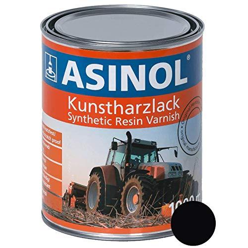 ASINOL RAL 9005 tiefschwarz hochglänzend 1 Liter, 1.000ml Kunstharzlack
