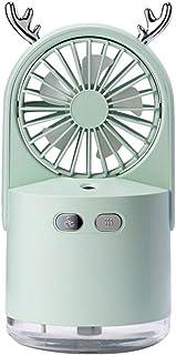 Portátil Usb Ventilador De Escritorio,Personal Plegable Enfriadores De Aire,Super Tranquilo Ventilador De Refrigeración Por Aire Con Noche Led,3 Velocidades Con Aroma Spray Verde 8.9x9.2x17.9cm