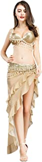 Belly Dance Costume for Women Belly Dancing Bra and Belt Sexy Triangle Hip Skirt Professional Dancer Outfit Suit