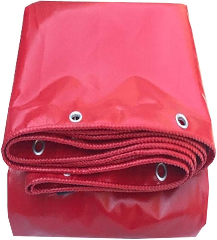 YX-Planen Mehrzweck-Planenblatt Premium-Qualittscover Starkes Reversible Rot - 100% wasserdicht und UV-geschützt - Dicke 0,42 mm, 530 g m2